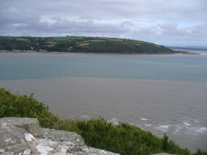 Llansteffan, Carmarthen Bay, Wales, August