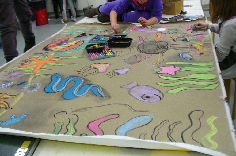 Annantalo Workshop, Helsinki, Under Water World in progress