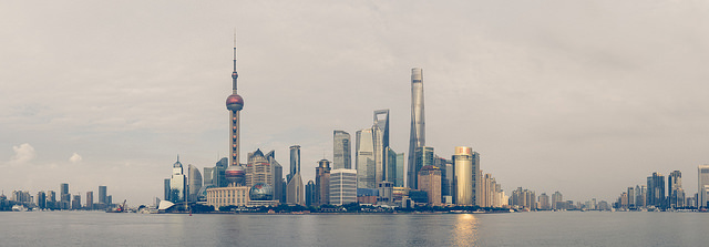 Pudong Skyline. Photo: Jannes Glas.